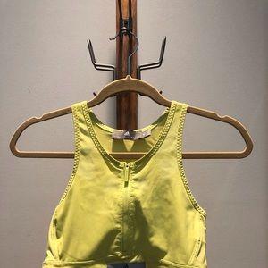 Zip front sports bra